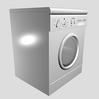 washing machine 3d 3ds