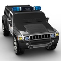 LowPoly Police Hummer H3 2008