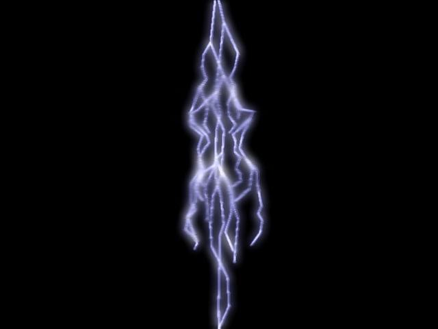 3d lightning light model