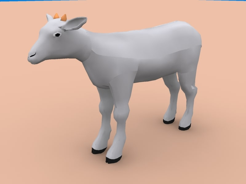 sheep goat 3d model