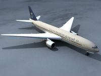 777 plane air 3d 3ds