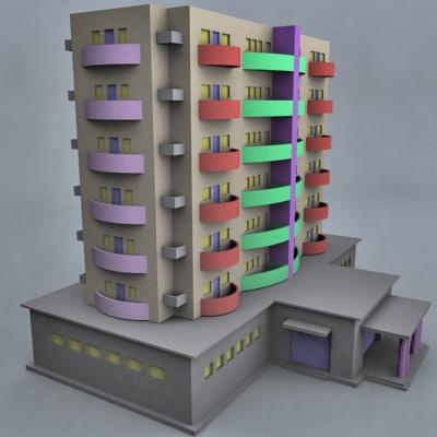 building flat 3d model
