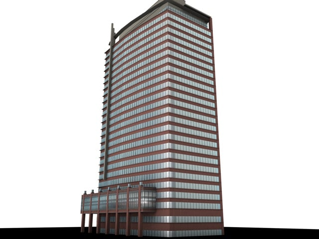 building 550 s hope 3d c4d