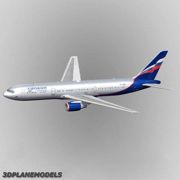 3d b767-300 aeroflot 767-300 767