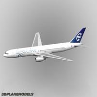 b767-300 air new zealand 3d max