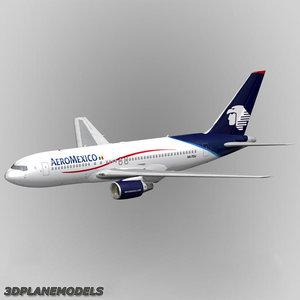 3dsmax b767-200 aeromexico 767-200 767
