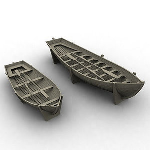 wooden boats 3ds