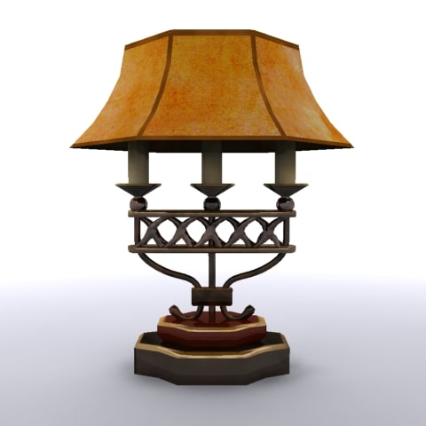 fashioned lamp shade 3d model