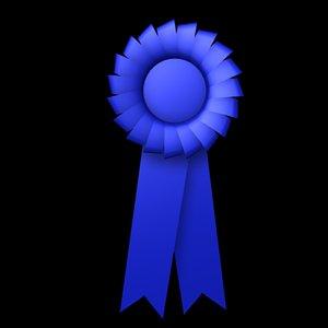 3d blue ribbon