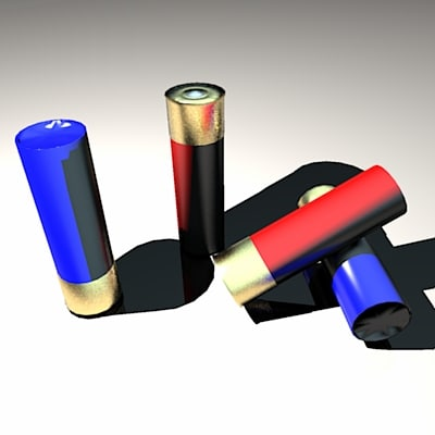 3d cartridges shotgun model