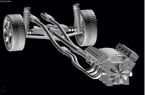 3d chassis model