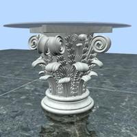 3d center table model
