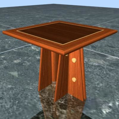 3ds max center table