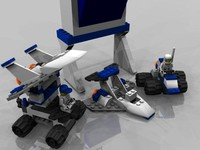 lego mission control 3d model