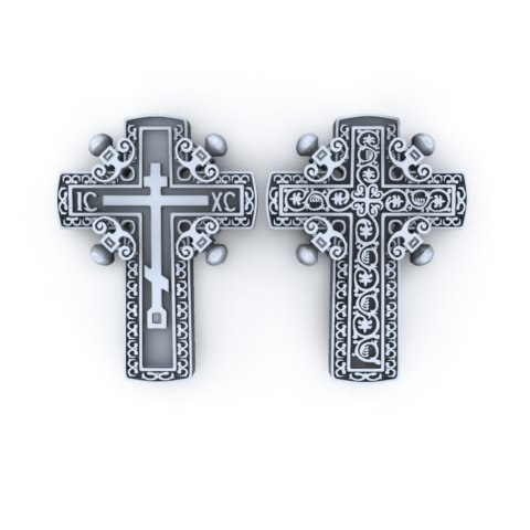 3d model christian cross