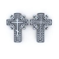 3d model christian cross