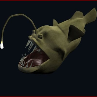 3d angler fish for Where do angler fish live