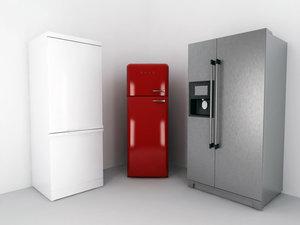 3d model bosch smeg fridge