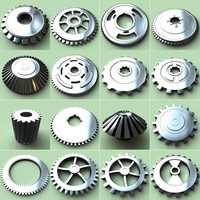 3d set gears model