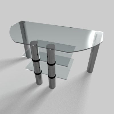 modern glass desk 3d model