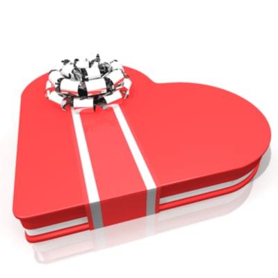 3d heart candy box