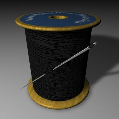3d model needle thread spool