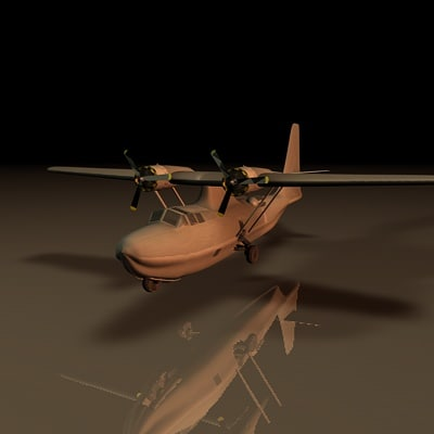 3d model wwii pby bomber