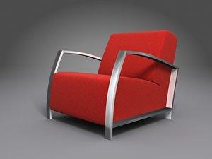 maya red arm-chair