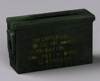 30 cal ammo box 3d model