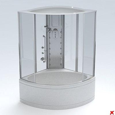 shower cabin 3d 3ds