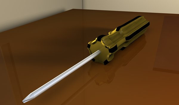 free screwdriver tool 3d model