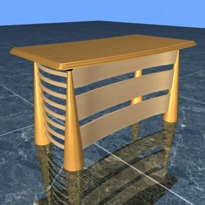 executive table 3d model