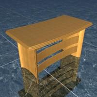 executive table 3d max