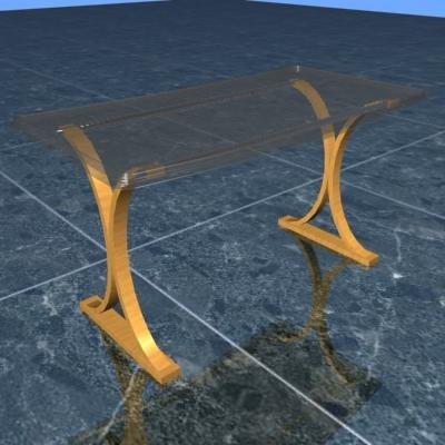 3d executive table