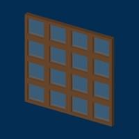 cartoon windows 3d model