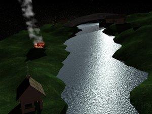 world river 3d max