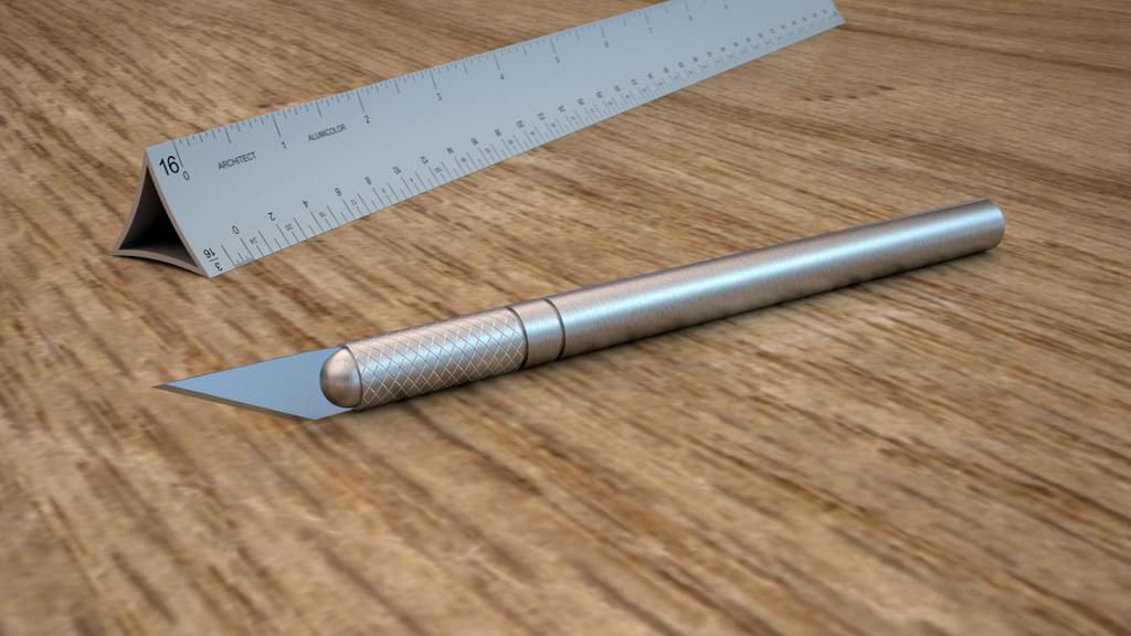 3dsmax xacto knife