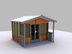 cabin scandinavia 3d max