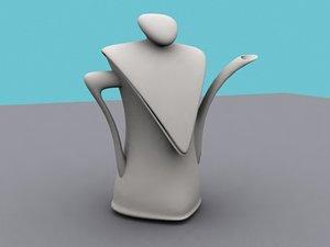 teapot animation 3d model