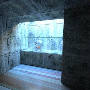 aquarium interior 3d max