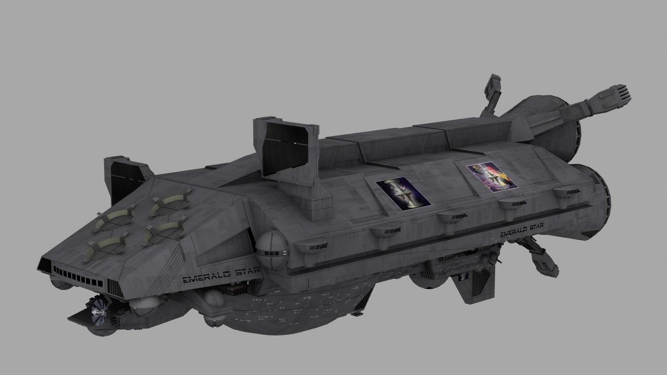 aegis warship 3d model