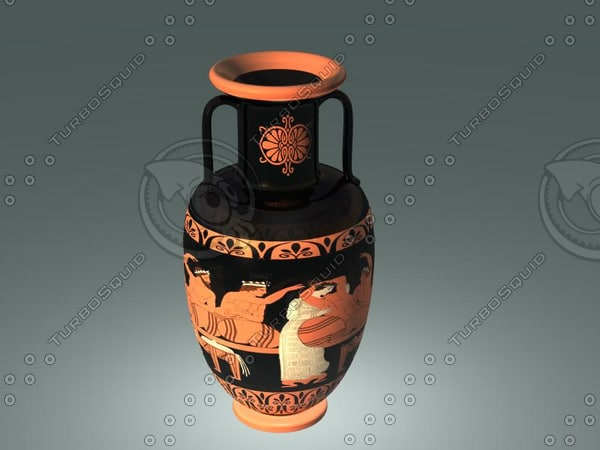 3d model red figure pottery ancient
