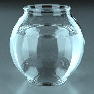 3ds max aquarium fishbowl