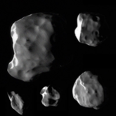 asteroid moon 3d max