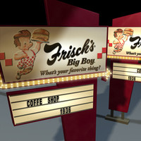 3d model big boy sign 01