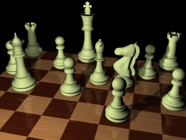 chessboard coins 3d max