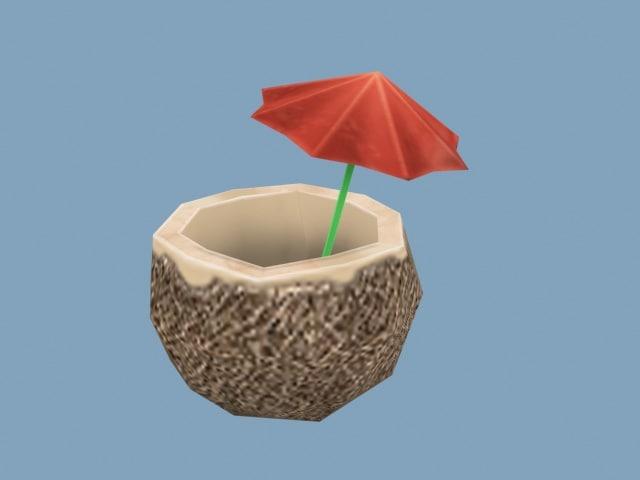 coconut drink umbrella max