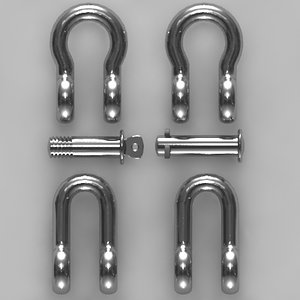 dee bow shackles lifting 3d max
