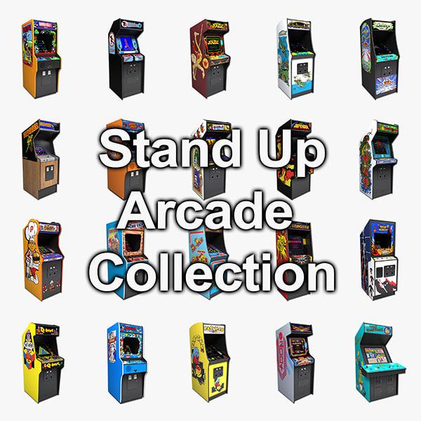 3d model arcade stand ups -
