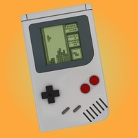 nintendo gameboy 3d model